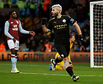 Sergio Aguero of Manchester City celebrates scoring their fifth goal during the Premier League match at Villa Park, Birmingham. Picture date: 12th January 2020. Picture credit should read: Darren Staples/Sportimage