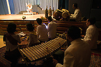 June 6th, 2008_Phnom Penh, Cambodia_ Classical Cambodian musicians, during a performance of the newly revived work of Preah Anruch Preah Neang Ossa.  It has been some 50 years, since this classical Khmer dance piece was performed publicly and is being produced by the Amrita Performing Arts Association.   Photographer: Daniel J. Groshong/Tayo Photo Group