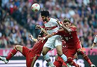FUSSBALL   1. BUNDESLIGA  SAISON 2012/2013   2. Spieltag FC Bayern Muenchen - VfB Stuttgart      02.09.2012 Serdar Tasci (li, VfB Stuttgart) gegen Mario Mandzukic (FC Bayern Muenchen)