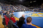 BROOKINGS, SD - DECEMBER 2:  A record crowd of 4,087 watches Cash Wilcke from Iowa battle Nate Rotert from SDSU in their 197 pound match Friday night at Frost Arena in Brookings, SD.(Photo by Dave Eggen/Inertia)