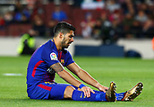 11th January 2018, Camp Nou, Barcelona, Spain; Copa del Rey football, round of 16, 2nd leg, Barcelona versus Celta Vigo; Luis Suarez rues his missed goal shooting chance
