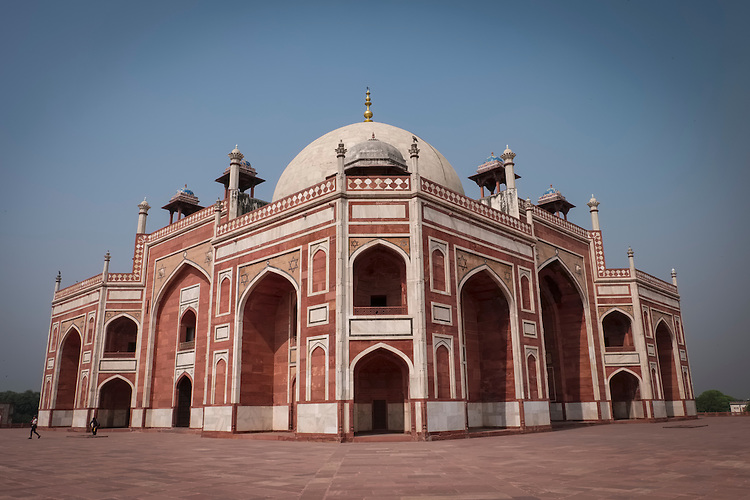 The UNESCO World Heritage Site of Humayun's Tomb was the first garden tomb on the Indian subcontinent built in the mid-16th century.