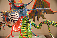 Papier mache dragon in the Museum of Popular Art, Mexico City. The Museo de Arte Popular, which opened in 2006, showcases folk art from all of Mexico's 31 states.