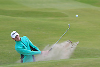 Tiarnan McLarnon (Massereene) in a bunker on the 4th during Round 1 of the The Amateur Championship 2019 at The Island Golf Club, Co. Dublin on Monday 17th June 2019.<br /> Picture:  Thos Caffrey / Golffile<br /> <br /> All photo usage must carry mandatory copyright credit (© Golffile | Thos Caffrey)