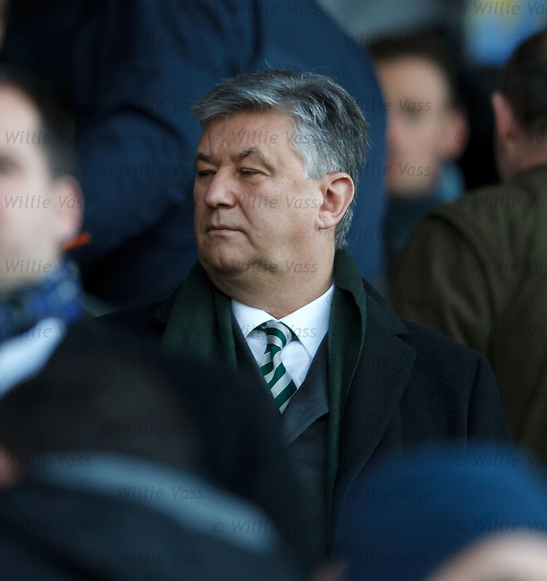 Peter Lawwell in the stand