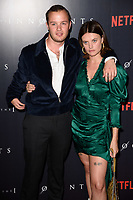 """Arthur Hughes and Abigail Hardingham<br /> arriving for the premiere of """"The Innocents"""" at the Curzon Mayfair, London<br /> <br /> ©Ash Knotek  D3421  20/08/2018"""