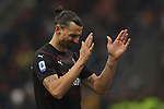 Zlatan Ibrahimovic of AC Milan reacts after a chance goes begging late on during the Serie A match at Giuseppe Meazza, Milan. Picture date: 6th January 2020. Picture credit should read: Jonathan Moscrop/Sportimage