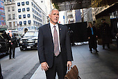 United States Vice President-elect Mike Pence, speaks to members of the media outside of Trump Tower in Manhattan, New York, U.S., on Tuesday, December 13, 2016. <br /> Credit: John Taggart / Pool via CNP