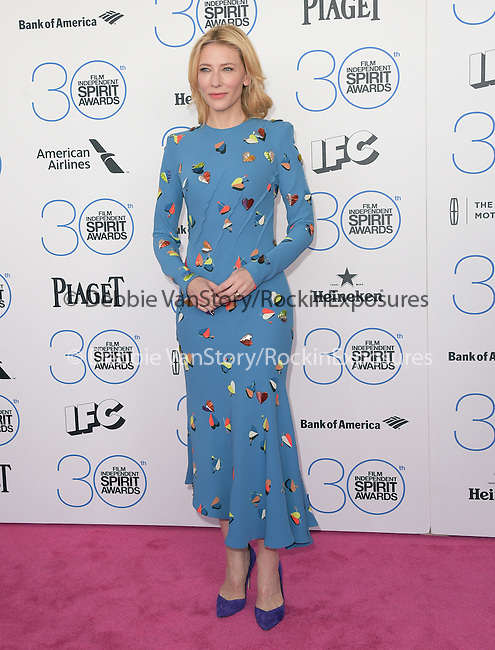 Cate Blanchett attends 2015 Film Independent Spirit Awards held at Santa Monica Beach in Santa Monica, California on February 21,2015                                                                               © 2015Hollywood Press Agency