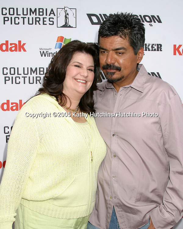 George and Anna Lopez  arriving at.Shark Boy and Lava Girl Premiere.El Capitan Theater.Los Angeles, CA.June 4, 2005.©2005 Kathy Hutchins / Hutchins Photo