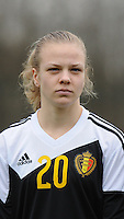 20160211 - TUBIZE , BELGIUM : Belgian Sarah Wijnants pictured during the friendly female soccer match between Women under 17 teams of  Belgium and Switzerland , in Tubize , Belgium . Thursday 11th February 2016 . PHOTO SPORTPIX.BE DIRK VUYLSTEKE