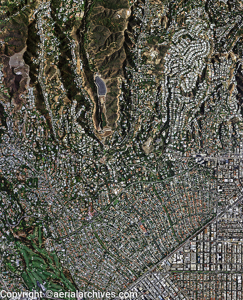 aerial photo map of Beverly Hills,  California