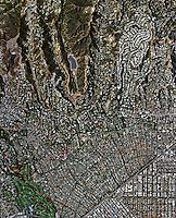 aerial photo map of Beverly Hills,  California, 2009.  For more recent aerial photo maps of Beverly Hills, please contact Aerial Archives.