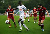 Pictured: Jordan Garrick of Swansea (C).  Friday 11 August 2017<br /> Re: Premier League 2, Division 1, Swansea City U23 v Liverpool U23 at the Landore Training Ground, Swansea, UK