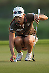 TAOYUAN, TAIWAN - OCTOBER 26:  Hee Young Park of South Korea lines up a put on the 18th hole during the day two of the Sunrise LPGA Taiwan Championship at the Sunrise Golf Course on October 26, 2012 in Taoyuan, Taiwan. Photo by Victor Fraile / The Power of Sport Images