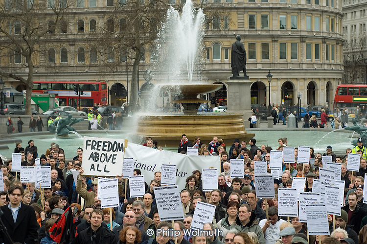 March for Free Expression, Trafalgar Square, London