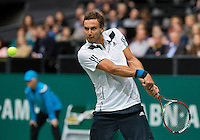 Rotterdam, The Netherlands. 15.02.2014. Ernests Gulbis(LET) at the ABN AMRO World tennis Tournament<br /> Photo:Tennisimages/Henk Koster