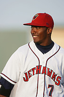 April 17, 2010: Albert Cartwright of the Lancaster JetHawks before game against the Rancho Cucamonga Quakes at Clear Channel Stadium in Lancaster,CA.  Photo by Larry Goren/Four Seam Images