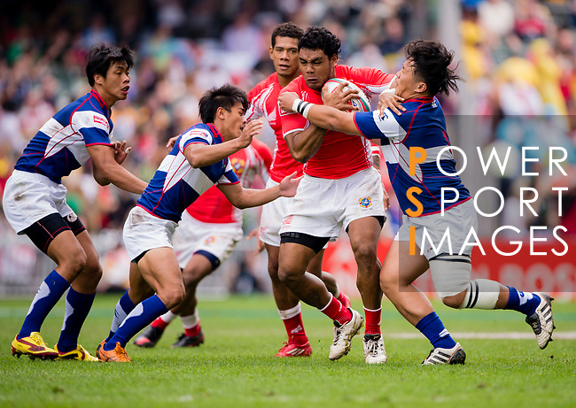 Tonga play Chinese Taipei on Day 2 of the Cathay Pacific / HSBC Hong Kong Sevens 2013 on 23 March 2013 at Hong Kong Stadium, Hong Kong. Photo by Xaume Olleros / The Power of Sport Images