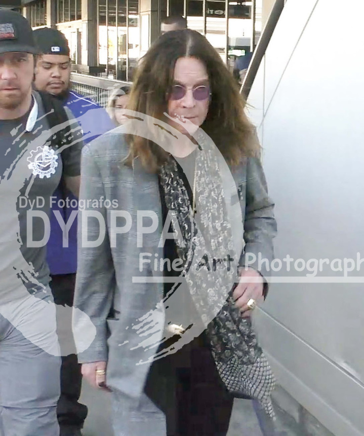 **ALL ROUND PICTURES FROM SOLARPIX.COM**<br /> **SOLARPIX RIGHTS - UK, AUSTRALIA, DENMARK, PORTUGAL, S. AFRICA, SPAIN &amp; DUBAI (U.A.E) &amp; ASIA (EXCLUDING JAPAN) ONLY**<br /> Caption:<br /> Ozzy Osbourne Sighted at LAX Airport<br /> <br /> **STRICTLY NO ONLINE USAGE WITHOUT PRIOR AGREEMENT**<br /> JOB REF:18776      PHZ  DATE:06.11.15<br /> **MUST CREDIT SOLARPIX.COM AS CONDITION OF PUBLICATION**<br /> **CALL US ON: +34 952 811 768**