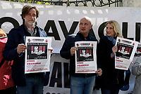 Roma, 22 Aprile 2017<br /> Presidio davanti al Quirinale per chiedere la libert&agrave; di Gabriele Del Grande,  giornalista e documentarista detenuto nelle carceri turche dallo scorso 9 aprile.