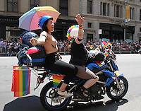 NEW YORK, NY - JUNE 26:  Motorcyclists in the 2016 NYC Gay Pride Parade  in New York, New York on June 26, 2016.  Photo Credit: Rainmaker Photo/MediaPunch