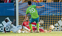 Carson, CA -  Sunday September 23, 2018: The Los Angeles Galaxy defeated the Seattle Sounders FC 3-0 during a Major League Soccer (MLS) game at StubHub Center.