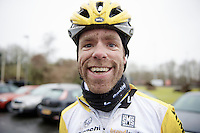 post-recon happy face by Bram Tankink (NLD/LottoNL-Jumbo)<br /> <br /> 2015 Omloop Het Nieuwsblad recon by Team LottoNL-Jumbo