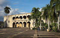 Alcazar de Colon, or Columbus Alcazar, built 1510-12 in Gothic Mudejar style, under Diego Colon, son of Christopher Columbus, who was 4th Governor of the Indies, in the Colonial Zone of Santo Domingo, capital of the Dominican Republic, in the Caribbean. The building houses the Museo Alcazar de Diego Colon, displaying Gothic and Renaissance European art. Santo Domingo's Colonial Zone is listed as a UNESCO World Heritage Site. Picture by Manuel Cohen
