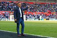 Swansea manager Carlos Carvalhal reacts on the touch line during the Premier League match between Swansea City and Stoke City at The Liberty Stadium, Swansea, Wales, UK. Sunday 13 May 2018