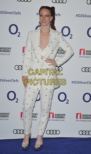 Jess Glynne at the Nordoff Robbins O2 Silver Clef Awards 2016, Grosvenor House Hotel, Park Lane, London, England, UK, on Friday 01 July 2016.<br /> CAP/CAN<br /> &copy;CAN/Capital Pictures