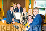 Brian McCarthy FEXCO Chairman was honoured at a  Kerry County Council  Civic Reception on Monday Pictured John McCarthy, Ruth McCarthy, Brian McCarthy Mary McCarthy,   Michelle McCarthy, Baby Charlie McCarthy and Denis McCarthy