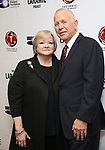 "Judy Shepard and Dennis Shepard attends the cast photo call for ""Laramie: A Legacy""  on September 24, 2018 at The Gerald W. Lynch Theater at John Jay College in New York City."
