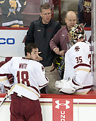 Colin White (BC - 18), Bert Lenz (BC - Director-Sports Medicine), John Hegarty (BC - Director-HockeyOps), Ryan Edquist (BC - 35) - The Boston College Eagles defeated the visiting Providence College Friars 3-1 on Friday, October 28, 2016, at Kelley Rink in Conte Forum in Chestnut Hill, Massachusetts.The Boston College Eagles defeated the visiting Providence College Friars 3-1 on Friday, October 28, 2016, at Kelley Rink in Conte Forum in Chestnut Hill, Massachusetts.