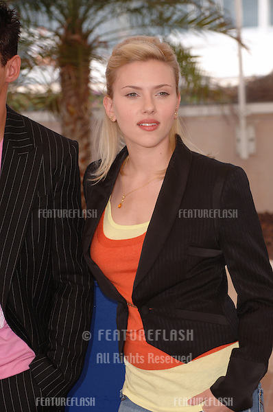 Actress SCARLETT JOHANSSON at the 58th Annual Film Festival de Cannes where she is promoting her new movie Match Point..May 12, 2005 Cannes, France..© 2005 Paul Smith / Featureflash