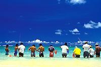 O'ama Shoreline fishing, Kualoa beach park, Oahu