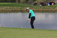Jon Rahm (ESP) on the 12th green during Round 2 of the Open de Espana 2018 at Centro Nacional de Golf on Friday 13th April 2018.<br /> Picture:  Thos Caffrey / www.golffile.ie<br /> <br /> All photo usage must carry mandatory copyright credit (&copy; Golffile | Thos Caffrey)
