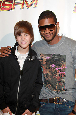Justin Bieber and Usher at KIIS FM's Wango Tango 2010 at Staples Center  in Los Angeles, California. May 15, 2010  Credit: Dennis Van Tine/MediaPunch