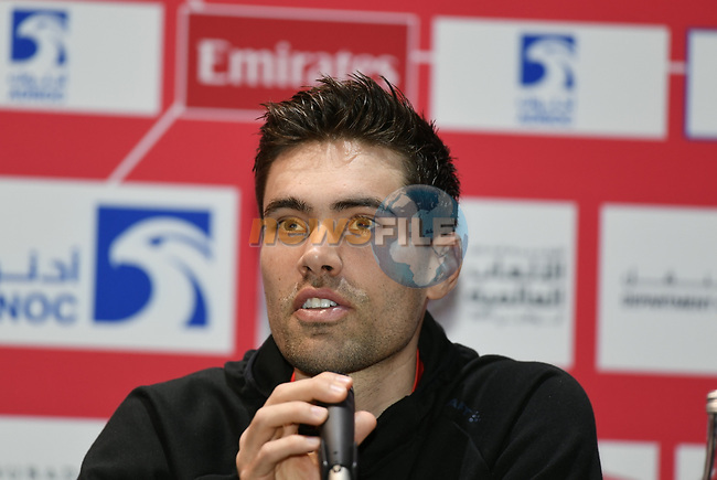 The 2019 UAE Tour Tom Dumoulin (NED) Team Sunweb spoke to the media this afternoon in Louvre Abu Dhabi, United Arab Emirates. 23rd February 2019.<br /> Picture: LaPresse/Fabio Ferrari | Cyclefile<br /> <br /> <br /> All photos usage must carry mandatory copyright credit (© Cyclefile | LaPresse/Fabio Ferrari)