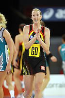 11.07.2010 Magic's Jodi Tod in action during the ANZ Champs Final netball match between the Magic and Tunderbirds played at the Adelaide Entertainment Centre in Adelaide. ©MBPHOTO/Michael Bradley