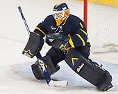 Collin Delia (Merrimack - 1) - The visiting Merrimack College Warriors defeated the Boston College Eagles 6 - 3 (EN) on Friday, February 10, 2017, at Kelley Rink in Conte Forum in Chestnut Hill, Massachusetts.
