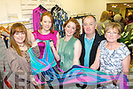 Showing off the style at the opening of the Pillbox, boutique in Killarney on Friday evening was l-r: Danielle Kelly, Jenna Doyle, Reidin O'Connor, Vince Keating and Mary O'Connor.