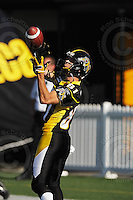 June 23, 2009; Hamilton, ON, CAN; Hamilton Tiger-Cats wide receiver Cassidy Doneff (81). CFL football: Toronto Argonauts vs. Hamilton Tiger-Cats at Ivor Wynne Stadium. The Argos defeated the Tiger-Cats 27-17. Mandatory Credit: Ron Scheffler. Copyright (c) 2009 Ron Scheffler.