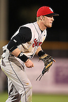 February 26, 2010:  Third Baseman Greg Hopkins (11) of the St. John's Red Storm during the Big East/Big 10 Challenge at Bright House Field in Clearwater, FL.  Photo By Mike Janes/Four Seam Images