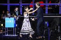 NEW YORK, NY, 12.12.2016 - ONU-UNICEF -   A atriz inglesa Millie Bobby Brown e o ex jogador inglês David Beckhan durante evento de 70º aniversário da UNICEF (Fundo das Nações Unidas para a Infância) na sede da Nações Unidas em New York os Estados Unidos nesta segunda-feira, 12. (Foto: Vanessa Carvalho/Brazil Photo Press)