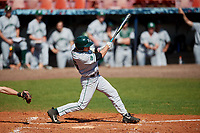 Dartmouth Big Green center fielder Trevor Johnson (36) bats during a game against the Bradley Braves on March 21, 2019 at Chain of Lakes Stadium in Winter Haven, Florida.  Bradley defeated Dartmouth 6-3.  (Mike Janes/Four Seam Images)
