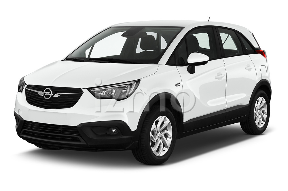 2019 Opel Crossland-X Edition 5 Door SUV Angular Front stock photos of front three quarter view