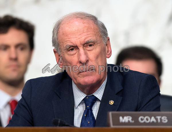 United States Senator Dan Coats (Republican of Indiana) listens as witnesses are questioned during an open hearing held by the US Senate Select Committee on Intelligence to examine worldwide threats on Capitol Hill in Washington, DC on Tuesday, February 9, 2016. Photo Credit: Ron Sachs/CNP/AdMedia