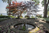 The Bishop's Garden, one of many small gardens for the public on the grounds of Chautauqua Institution.