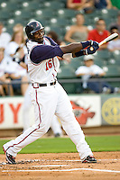 Abercrombie, Reggie 3968.jpg.  PCL baseball featuring the Tacoma Rainers at Round Rock Express at Dell Diamond on August 5th 2009 in Round Rock, Texas. Photo by Andrew Woolley.